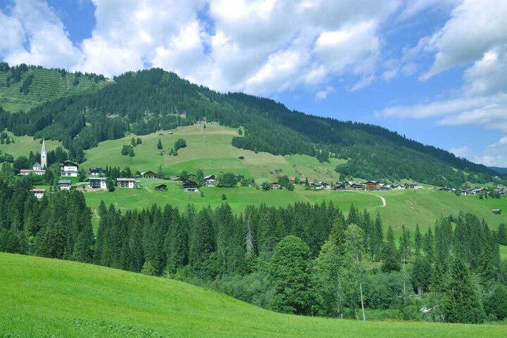 Das Kleinwalsertal in Österreich.