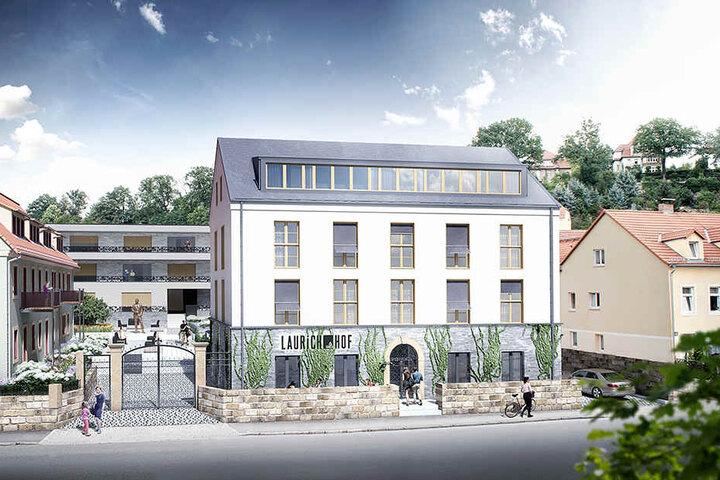 """Wo jetzt noch ein Baufeld gähnt, soll schon im Mai 2019 der schicke """"Laurichhof"""" eröffnet werden."""