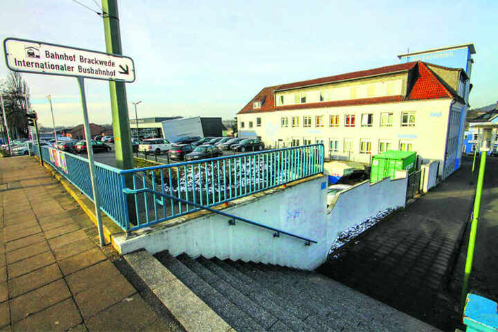 Der Zugang von der Stadtbahn zum Bahnhof und Fernbusbahnhof soll barrierefrei werden.