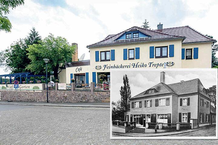 Eine Bäckerei mit langjähriger Geschichte: Die kleine Aufnahme rechts entstand um  1927.