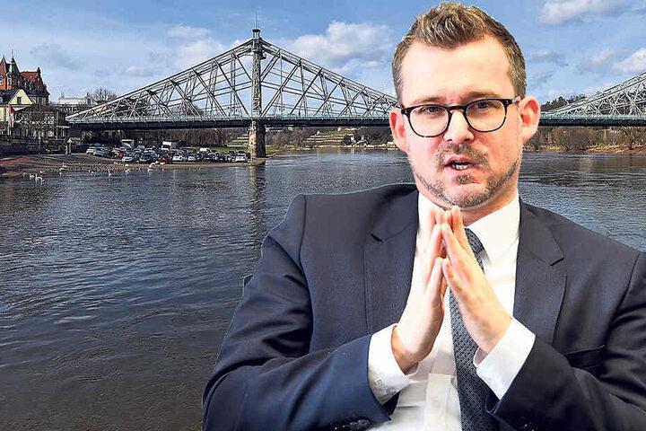 Baubürgermeister Raoul Schmidt-Lamontain (42, Grüne) muss die (jeweils gerade beschlossenen) Pläne umsetzen.