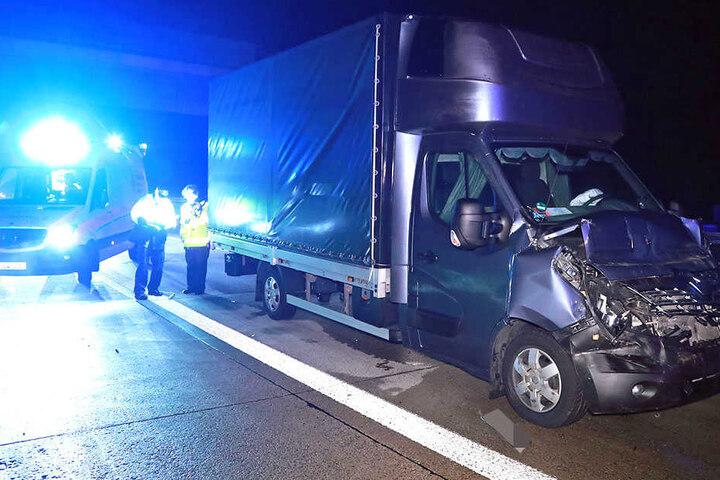 Ein Transporter wurde der A4 abgeschleppt.
