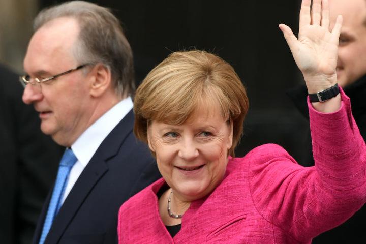 Angela Merkel und Frank-Walter Steinmeier wurden ausgebuht.