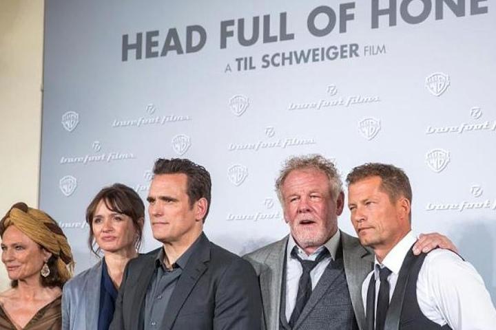 Til Schweiger mit Nick Nolte, Matt Dillon, Jacqueline Bisset und Emily Mortimer (v.r.).