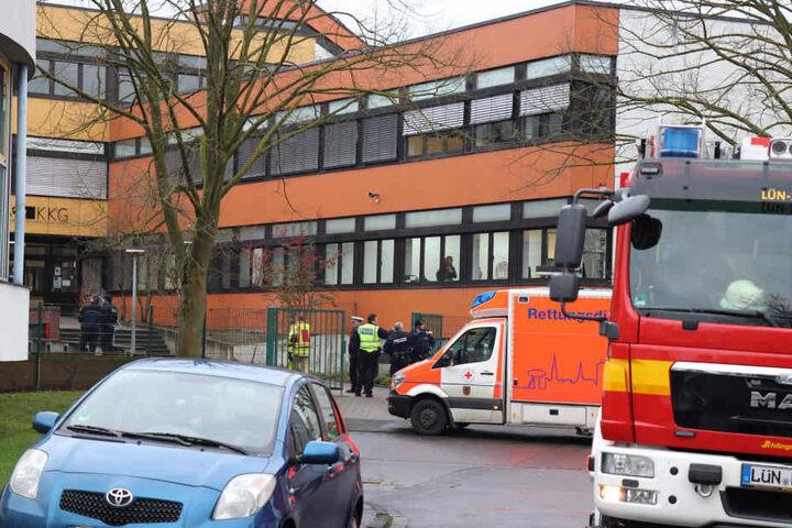 An der Käthe-Kollwitz-Gesamtschule soll ein Schüler seinen Mitschüler umgebracht haben.