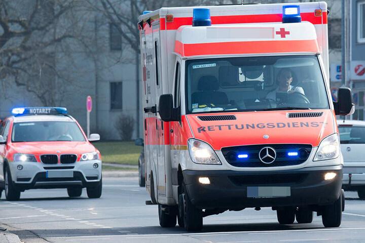 Mehrere Rettungskräfte sind am Markkleeberger See vor Ort.
