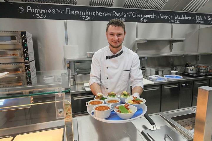 Küchenchef Rene Heidig (32) kredenzt seine Kochkünste.