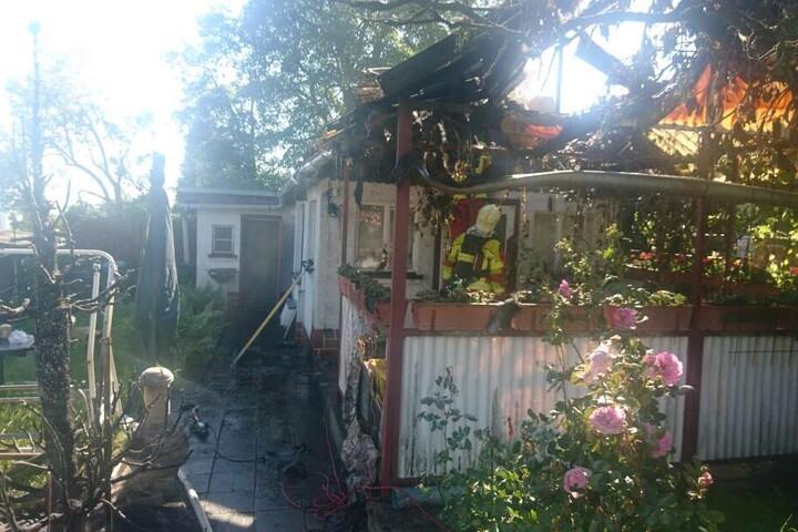Ob die Hütte jemals wieder genutzt werden kann, ist noch nicht klar.