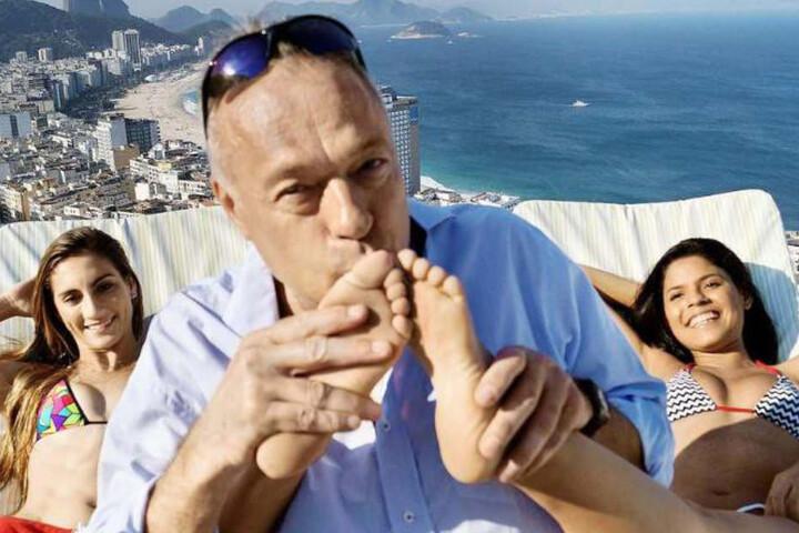 Der Ex-Richter mit seinen Gespielinnen in Rio de Janeiro.