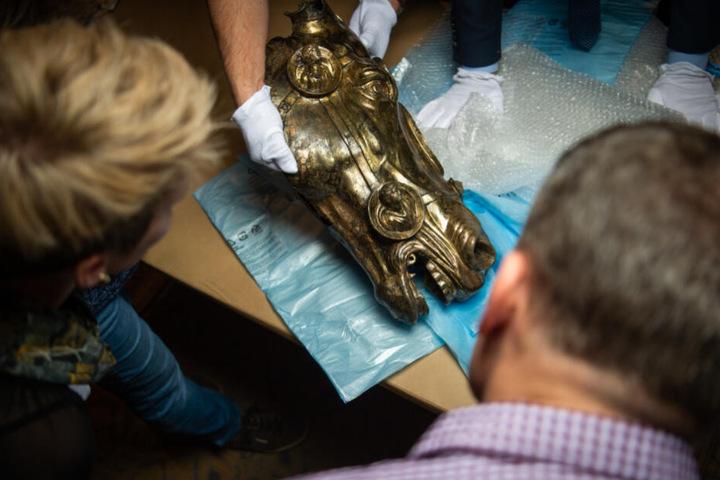 Der Kopf soll Teil eines Reiterstandbilds sein, dass eine römische Siedlung schmückte.