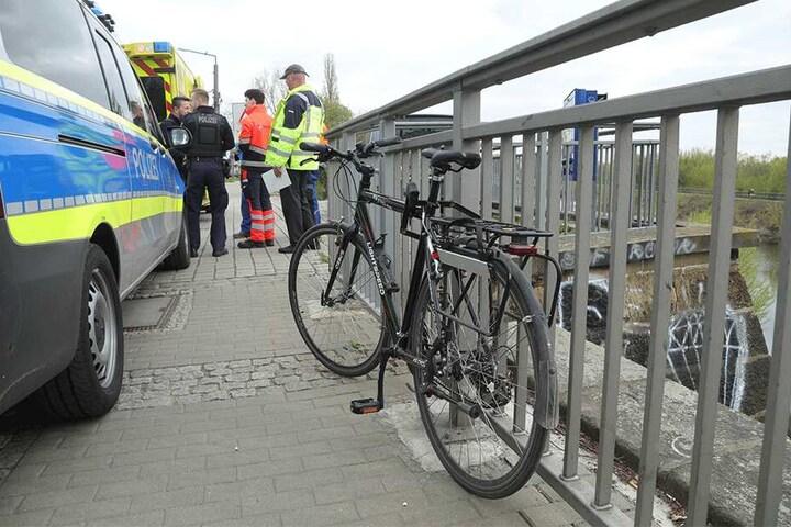 Das Fahrrad des Unfallopfers.