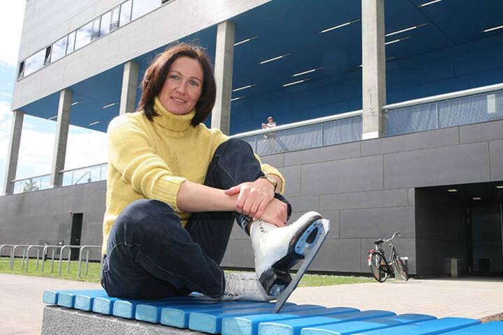 Karin Enke war auf dem Eis für die DDR unterwegs.