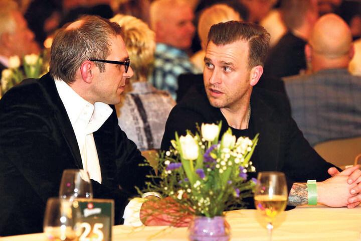 Zwei FCE-Legenden, zwei ehemalige Kapitäne: Tomasz Kos (l.) und Rene Klingbeil waren ebenfalls eingeladen worden.