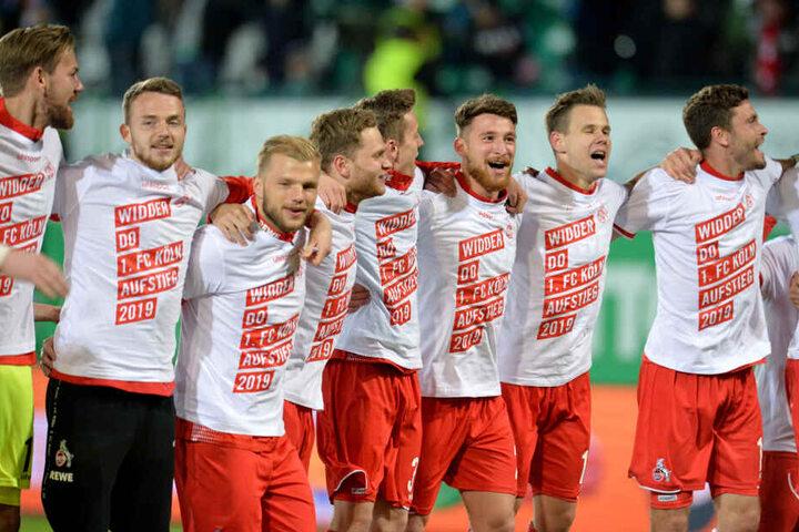 Der 1. FC Köln feierte den Aufstieg in die 1. Liga.