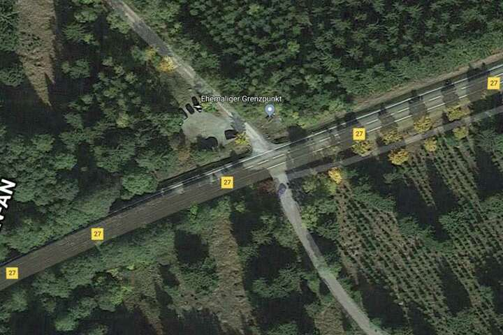 Am ehemaligen Grenzpunkt an der B27 wollte der Kia nach links abbiegen. Der überholende Biker hatte keine Chance auszuweichen.