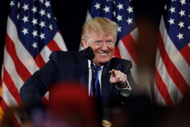 Noch hat sich Donald Trump zu der provokanten Aktion der Berliner Organisation nicht geäußert