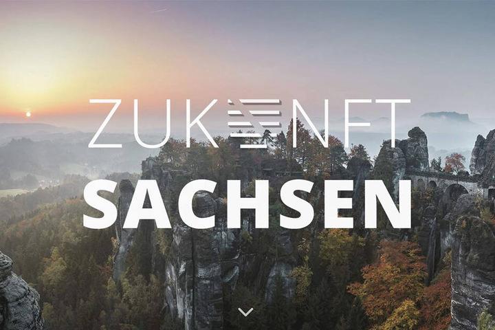 """So beginnt der Internet-Auftritt von """"Zukunft Sachsen"""". Auf der Website wird ausführlich Schwarz-Rot-Grün beworben."""