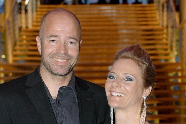 Trond Nystad 2014 beim Olympiaball in Leipzig mit seiner Frau Claudia Nystad.