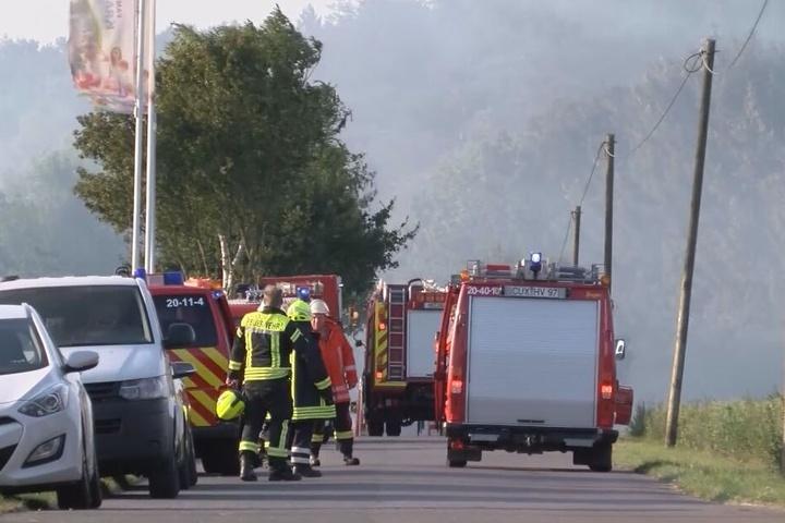Zahlreiche Menschen wurden durch das giftige Rauchgas verletzt.