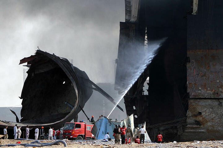 DieAbwrack-Werft gilt als eine der größten Schiffsfriedhöfe der Welt.