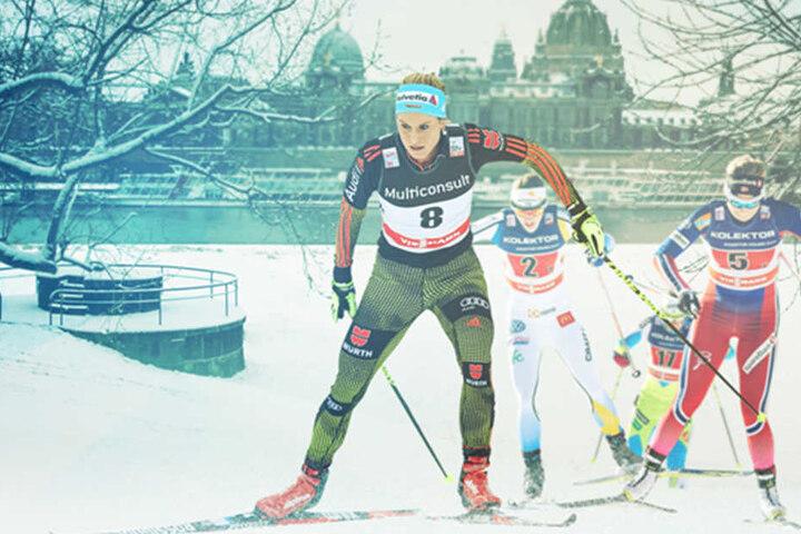 Diese Bilder werden um die Welt gehen: Langlauf-Fans sitzen vor allem in den  USA, Skandinavien, Deutschland und Italien wie gebannt am TV.