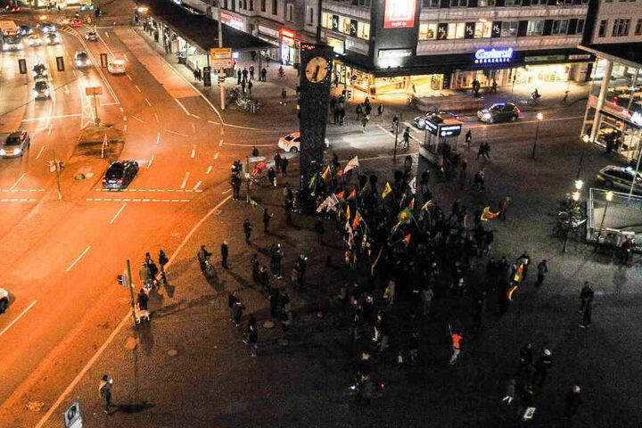 Etwa 70 Personen wollten an der Demonstration am Jahnplatz teilnehmen.