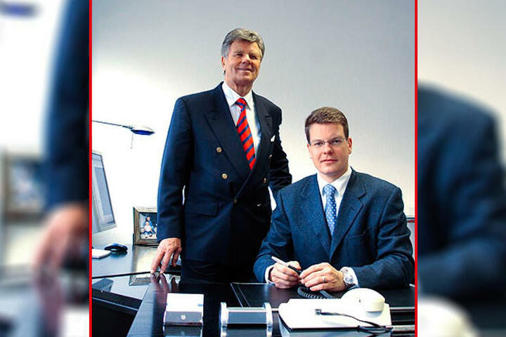 Heute arbeiten Manfred Nagetusch (l.) und sein Sohn Marco in Wiesbaden im Immobiliengeschäft.