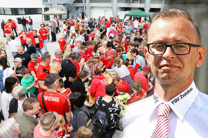 FSV-Pressesprecher Daniel Sacher (r.). Wie in den vergangenen Jahren werden die FSV-Profis natürlich wieder Autogramme für die Fans geben. (Bildmontage)