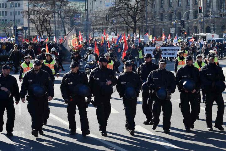 3000 Polizisten waren während der Demonstrationen und der Sicherheitskonferenz in München im Einsatz.