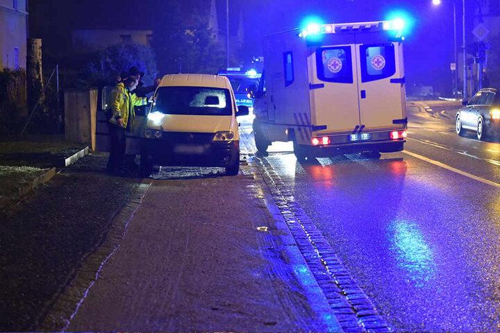 Der Fußgänger wurde ins Krankenhaus gebracht.