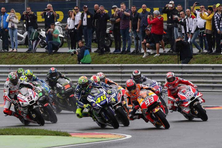 Der MotoGP gehört zu den beliebtesten Veranstaltungen auf dem Sachsenring.