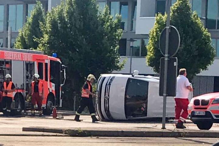 Der Fahrer des Volkswagen wurde leicht verletzt.