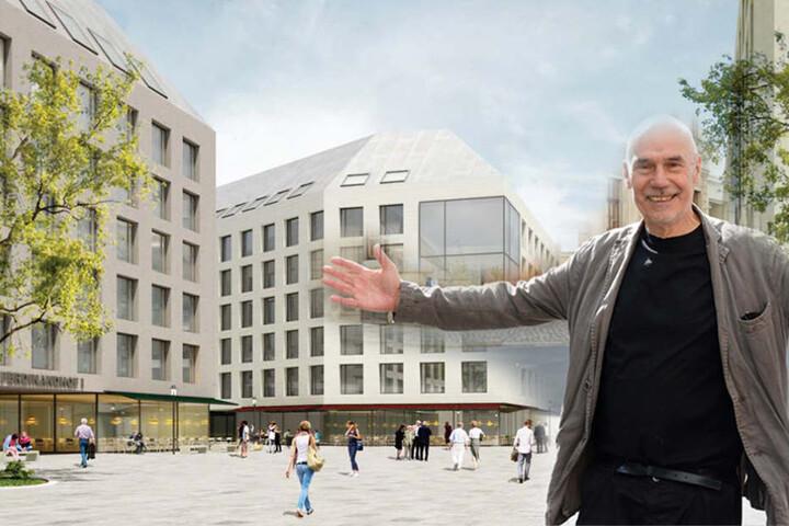 Architekt Peter Kulka (80) schlug als Einziger schräge Dächer auf allen Bauwerken vor.