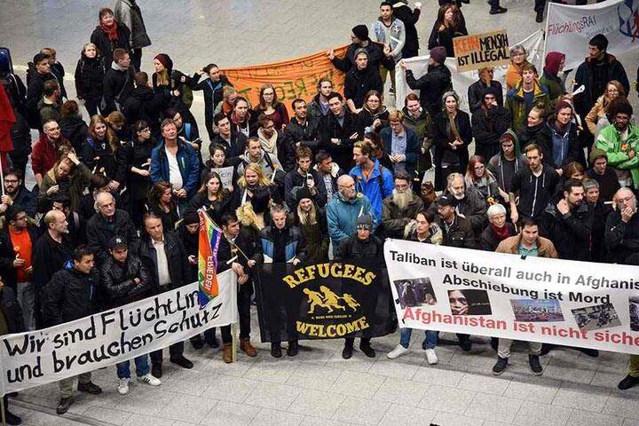 Proteste gegen die Abschiebung nach Afghanistan.