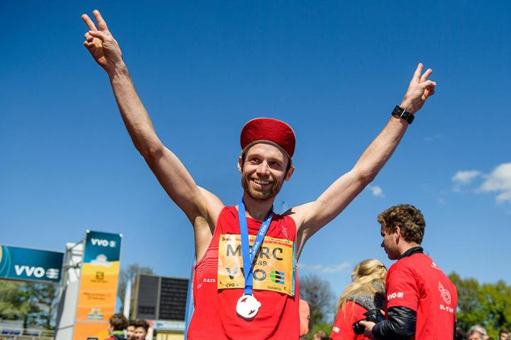 Nach 2:25:58 Stunden erreichte der Dresdner Marc Schulze das Ziel.