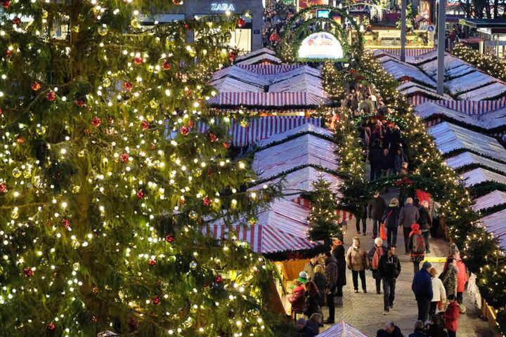 Der diesjährige Leipziger Weihnachtsmarkt hat vom 27. November bis 23. Dezember geöffnet.