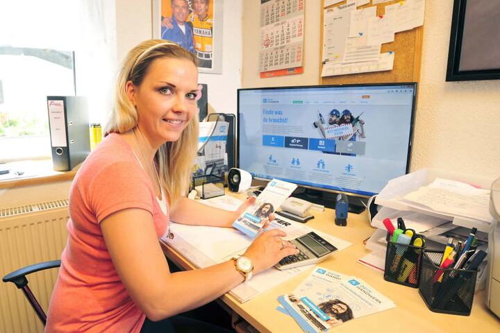 """Mit dem """"Facebook für Handwerker"""" will Anne Urbig (30) kleinen Betrieben bei ihren Aufträgen helfen."""