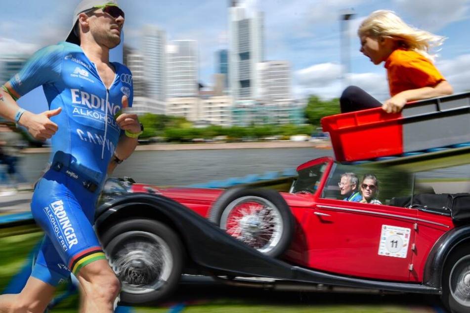 Frankfurt: Eisen-Athleten, rollende Oldies oder Riesen-Spielplatz: Der Sonntag hat's in sich