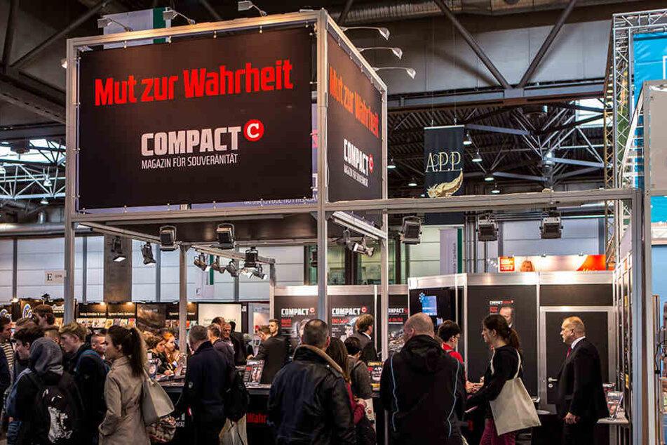Der Stand von Compact auf der Leipziger Buchmesse 2016. In diesem Jahr soll es nicht so einfach gewesen sein, den Messe-Auftritt des Magazins zu fotografieren.
