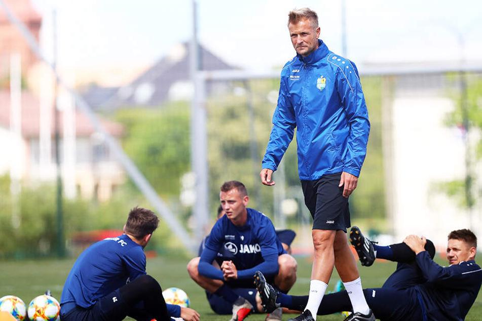 CFC-Coach David Bergner wird im Polen-Camp seinen neuen Kapitän bestimmen.