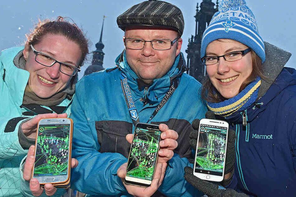 Kampf um Fürstenzug und Großen Garten: 750 Handy-Spieler erobern Dresden