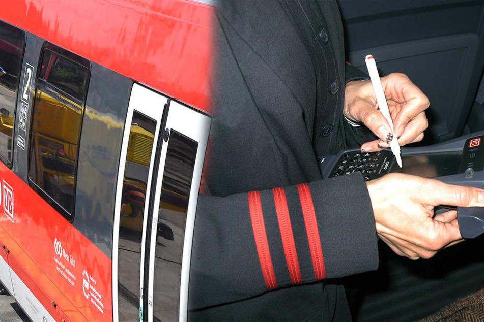 Mit aller Macht stemmte sich ein Mann gegen eine Fahrkartenkontrolle im Zug.