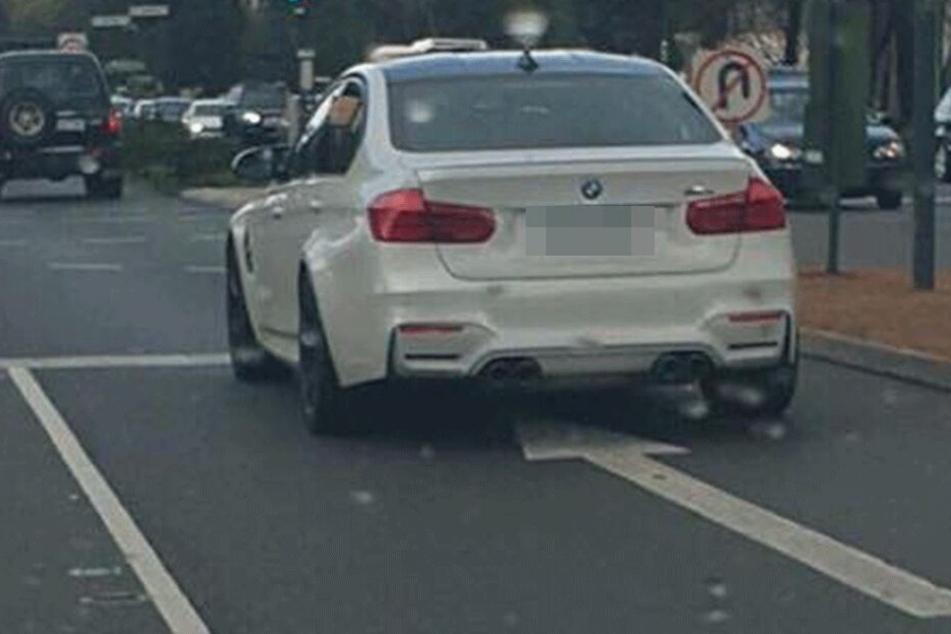Wenig Freude löste der Fahrer dieses BMW aus.