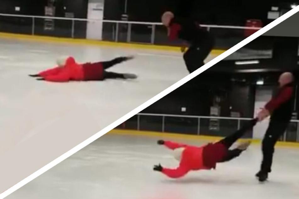 "Man mag gar nicht hinsehen: Hier fliegt Désirée Nick fürs ""Dancing on Ice""-Comeback übers Eis"