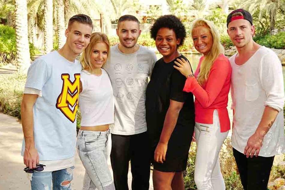 Menderes Bagci (Mitte) mit seinen Konkurrenten Dominic Fritz, Dana Voiculescu, Noah Schärer, Vivien Scarlett Heymann und Matthias Bonrath (v.l.)