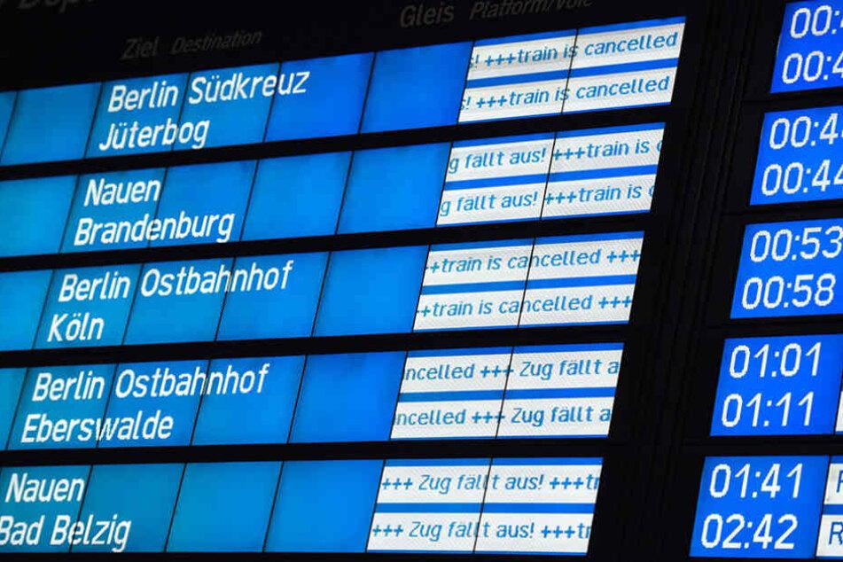 Am Donnerstag kam der Zugverkehr durch den Sturm zum erliegen.