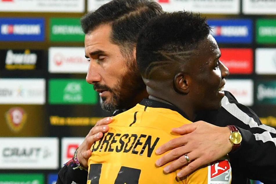 Cristian Fiel bedankte sich auch bei Moussa Koné, der das entscheidende Tor mustergültig vorbereitete.