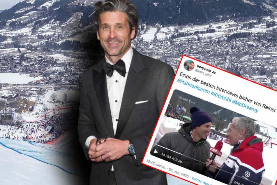 US-Star Patrick Dempsey in Kitzbühel: Über dieses Pannen-Interview lacht das Netz
