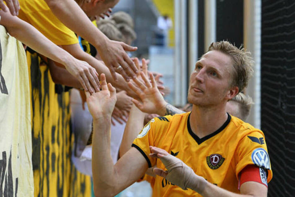 Die Fans sind eine Macht, das weiß auch Dynamos Kapitän Marco Hartmann. Er fordert von den Rängen volle Unterstützung für seine Mannschaft.