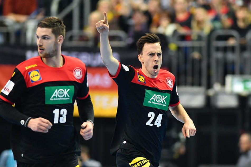 Patrick Groetzki (r.) und Hendrik Pekeler zeigten eine starke Leistung.